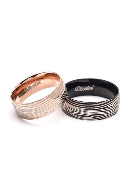 titanium steel stripe rings