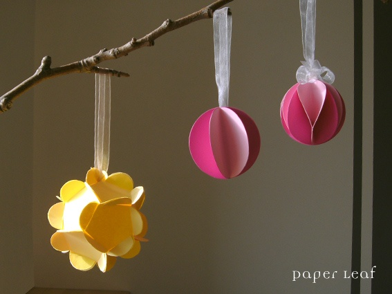Paper Leaf: Palle di Natale (di carta)