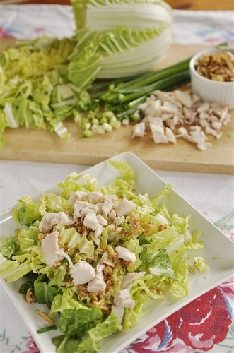 Chicken Napa Salad... YuMmmm I love this. Add some edame and you've got the paradise version!