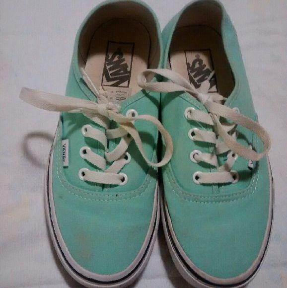Mint vans Perfect condition just a little  dirty mint colored Van's Vans Shoes Sneakers