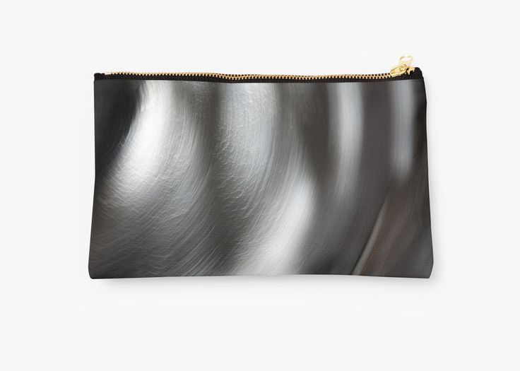 Black and White Abstract Swirls pouch by Galerie 503