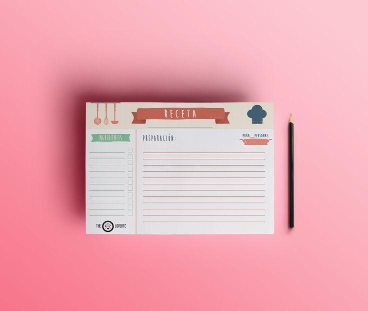 Aquí tenéis un imprimible gratuito para poder apuntar todas las recetas familiares!