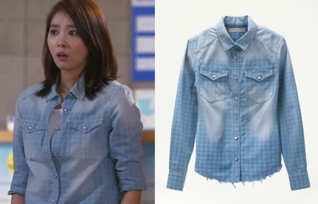 "Oh Yoon Ah in ""You're All Surrounded"" Episode 19.   Sono Io Shea Shirt #Kdrama #YoureAllSurrounded #너희들은포위됐다 #OhYoonAh #오윤아"
