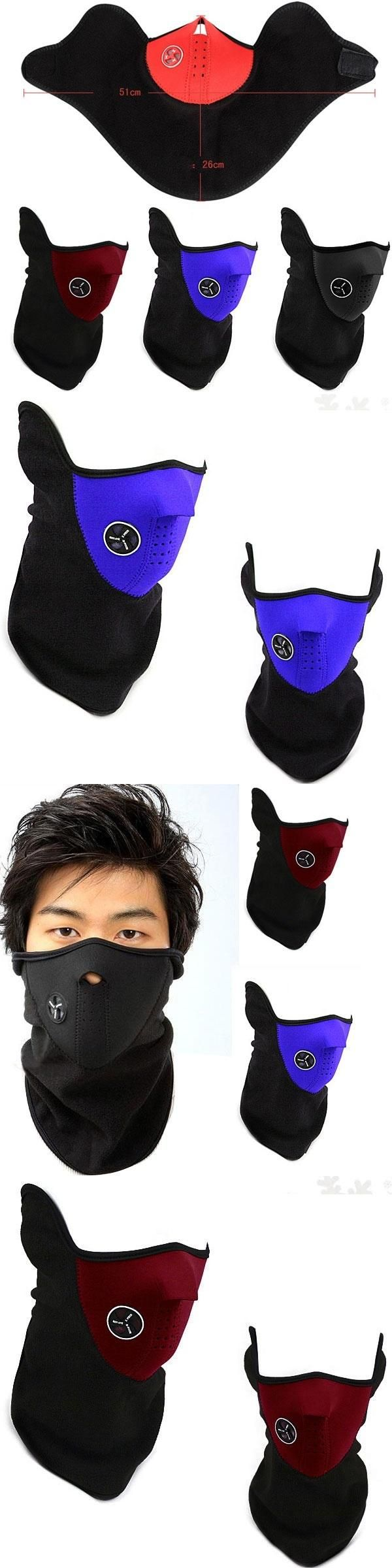 2017 Fashion Winter Unisex Winter Warm Half Face Mask Cover Neck Guard Scarf CS Sheld Ski Cycling Fashion Accessories