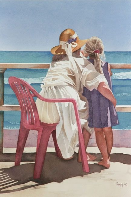 Pomms Famous Watercolor Painting Gallery http://www.pinterest.com/fifitrixabel/beach-art/