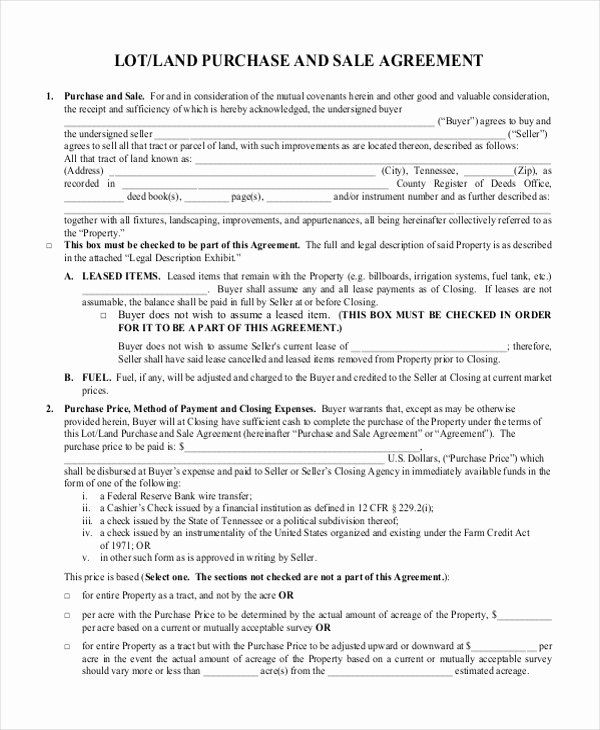 Land Purchase Agreement Form Pdf Fresh Free 7 Sample Land Purchase Agreement Forms In Pdf Contract Template Purchase Agreement Preschool Lesson Plan Template