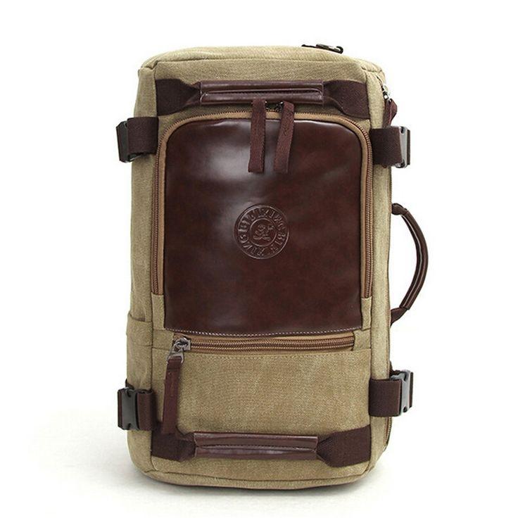 32.98$  Buy now - https://alitems.com/g/1e8d114494b01f4c715516525dc3e8/?i=5&ulp=https%3A%2F%2Fwww.aliexpress.com%2Fitem%2FVintage-Men-s-Casual-Canvas-Backpack-Messenger-Rucksack-School-Satchel-Crossbody-Outdoor-Hiking-Camping-Bag-Back%2F32535705028.html - Vintage Men's Casual Canvas Backpack Messenger Rucksack School Satchel Crossbody Rugzakken Bag Back Pack Bolsos Women Plecaki 32.98$