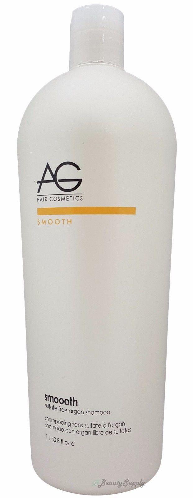 AG Hair Smooth Sulfate-Free Argan Shampoo 33.8 oz / 1000 ml  Free Shipping !!!