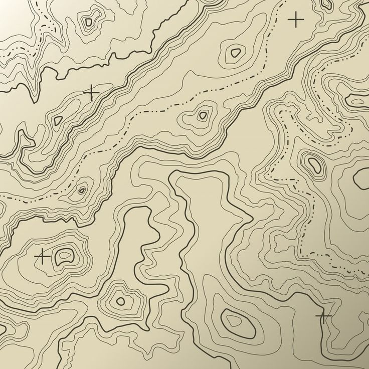 Topographical map Wall Mural/Wallpaper Maps