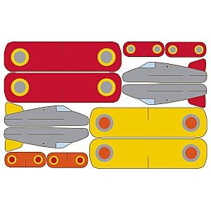 Żółty balonik: Samoloty (Pilot) - zaproszenia