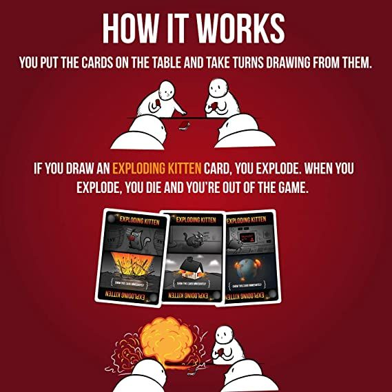 Exploding Kittens Card Game Family Friendly Party Games In 2020