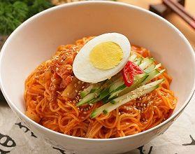 Korean Food | Bibim Guksu | Sweet & Spicy Cold Noodles