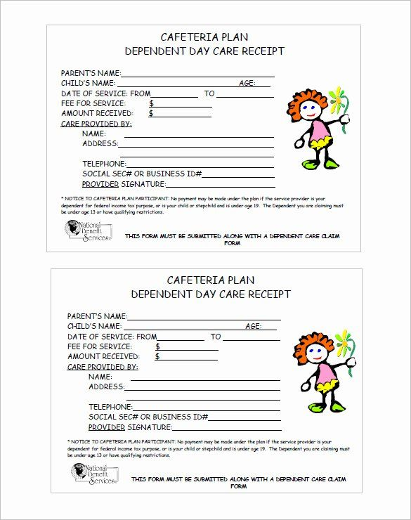 Child Care Payment Receipt Beautiful 20 Daycare Receipt Templates Doc Pdf Receipt Template Invoice Template Word Invoice Template