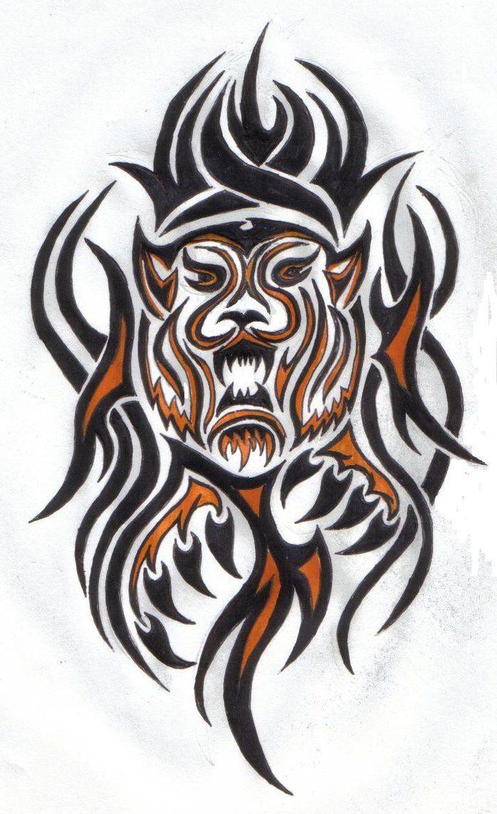 tribal tiger designs - 698×1143
