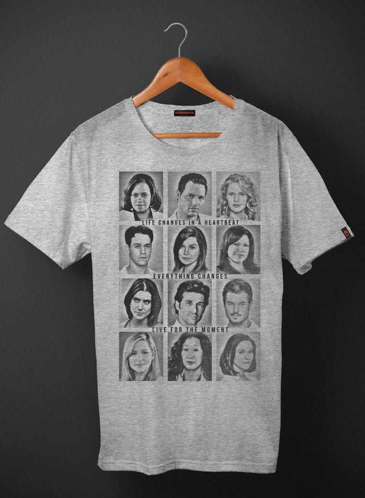 Camiseta Grey's Anatomy Everything Changes  R$44,90