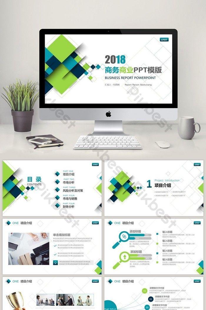 Blue Green Business Report Summary Plan Ppt Template