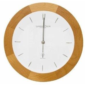 Radio Controlled Wall Clock 27cm- Light Wood 36019