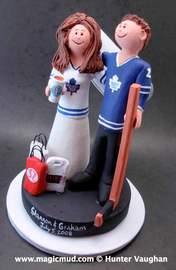 custom wedding cake toppers toronto 17 best images about hockey wedding cake toppers on 13261