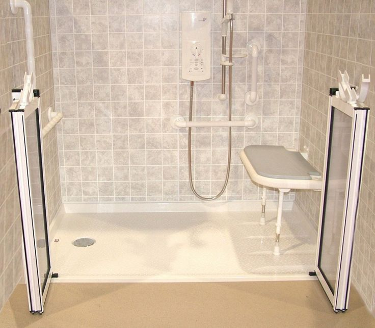 Delightful Bathroom. Elegant Cool And Functional Folding Lower Half Shower Doors.  Instagoos.com