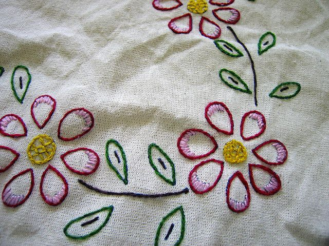 embroidery kits | HAND EMBROIDERY KITS TABLECLOTH | Embroidery Designs