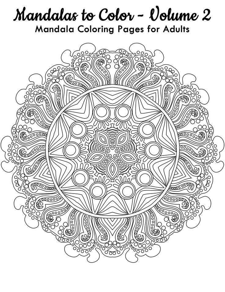 Relax By Coloring This FREE Mandala From Mandalas To Color