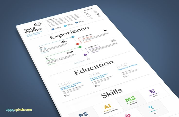 Infographic Resume \ Cover Letter - Creative PSD Resume Templates - infographic resume templates