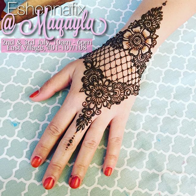 It's this weekend ladies!! Get your #eshennarayafix & #eshennamix at our booth in @Maqayla on the following dates! _ #eshennafix #henna #bridal #sg #wedding #singapore #bridalhenna #inai #mehendi #mehndi #heena #art #intricate #design #bride #pengantin #culture #love #hennasg #artist #hennainspire #inspire #doodle #igsg #singaporehenna #sgwedding #singaporewedding #eshennamix
