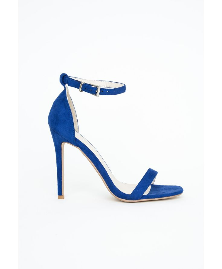 Missguided Clothing Shoes | Missguided Clara Cobalt Blue Strappy Heeled Sandals in ...
