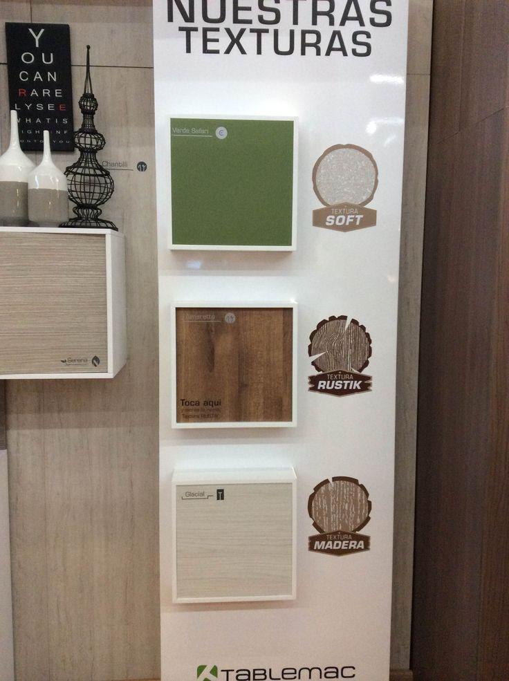 Texturas y diseño en #ExpoCamacol. #DiseñosTablemac