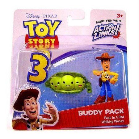 Walking Woody & Peas In A Pod Mini Figure 2-Pack Toy Story 3, Multicolor