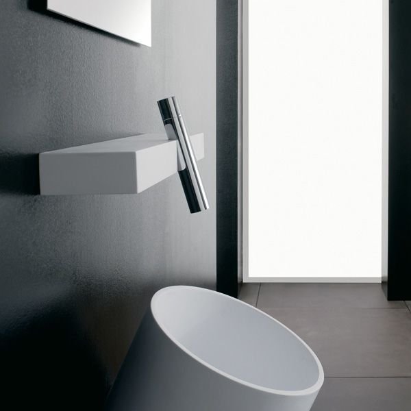 Streamline faucet and sink treemme simple Mid century modern bathroom faucets