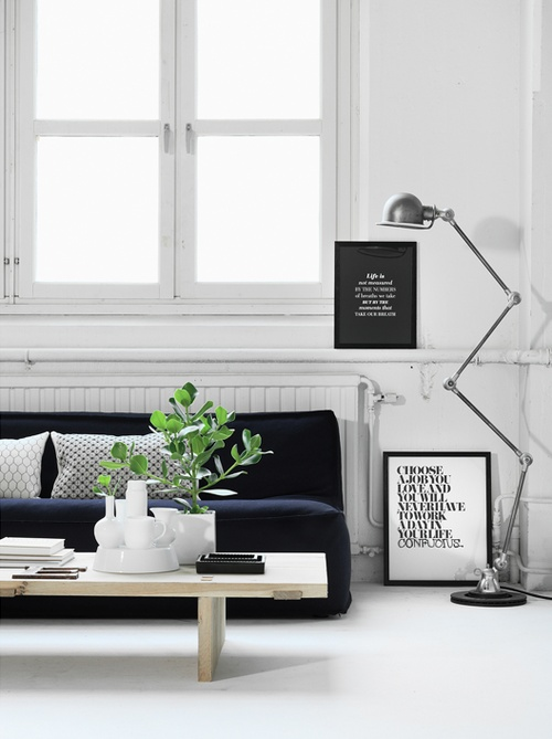White. Black. Fresh green. Natural wood. Jielde lamp. TS prints.