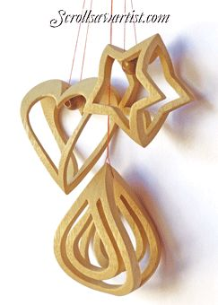 Scroll Saw Patterns :: Holidays :: Christmas :: 3D Ornaments -