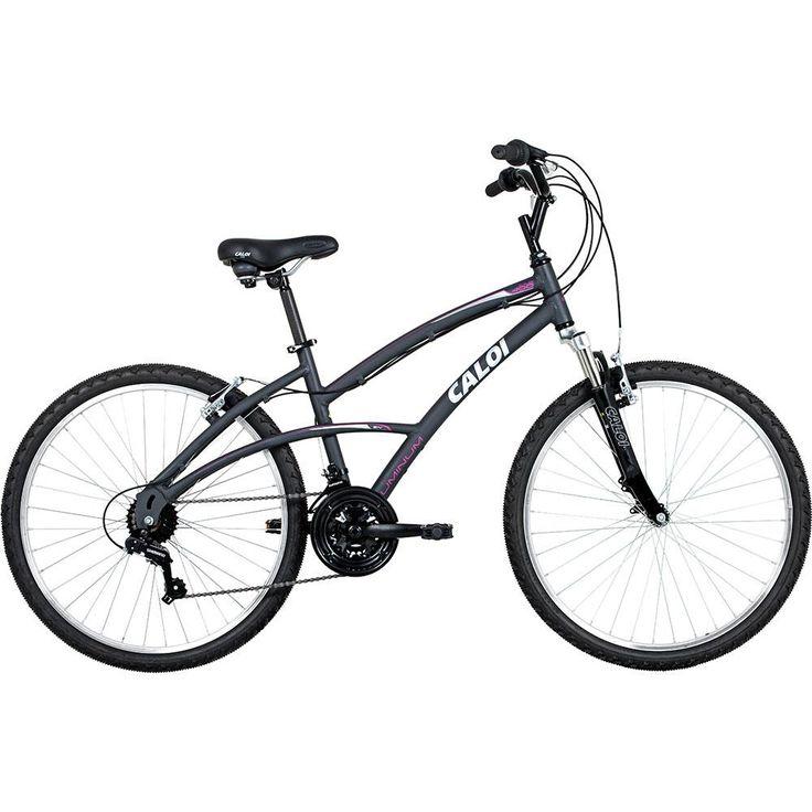 Bicicleta 400 Caloi Aro 26 T16 V21 Feminina Cinza - Caloi com o melhor preço é no Walmart!