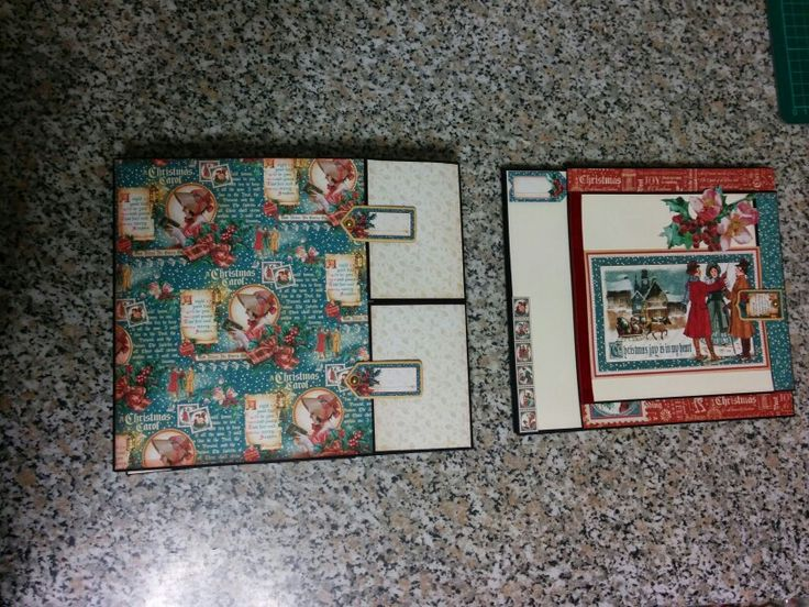 Pages 10 and 11 of my Christmas Carol mini album by graphic 45