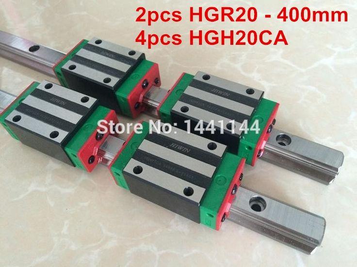 137.00$  Watch here - http://ali26w.shopchina.info/go.php?t=32287798432 - 2pcs 100% original HIWIN rail HGR20 - 400mm Linear guide + 4pcs HGH20CA Carriage CNC parts 137.00$ #buymethat