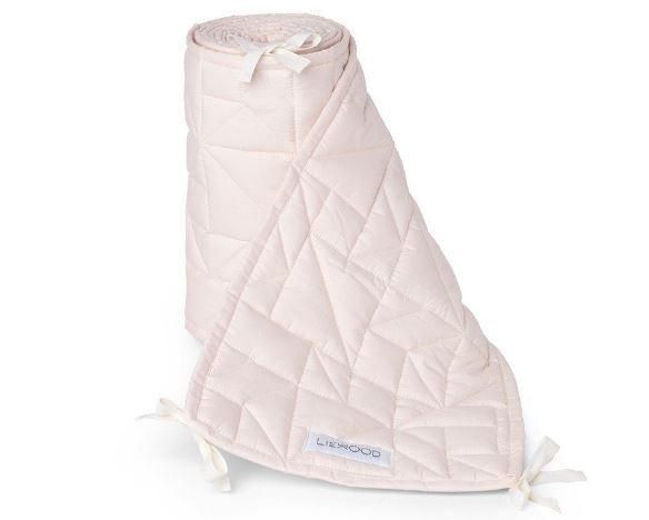 Liewood Quilted cot bumper in pink sweet rose is the perfect plain cot bumper for your babies cot bed.