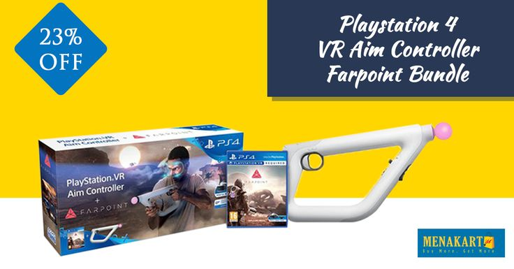 PlayStation 4 - VR Aim Controller Farpoint Bundle. #PS4 #Playstation #Games #Online #Shopping #Menakart