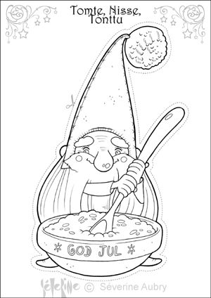 tomte coloring page - 327 best cr ations de severine aubry illustratrice images