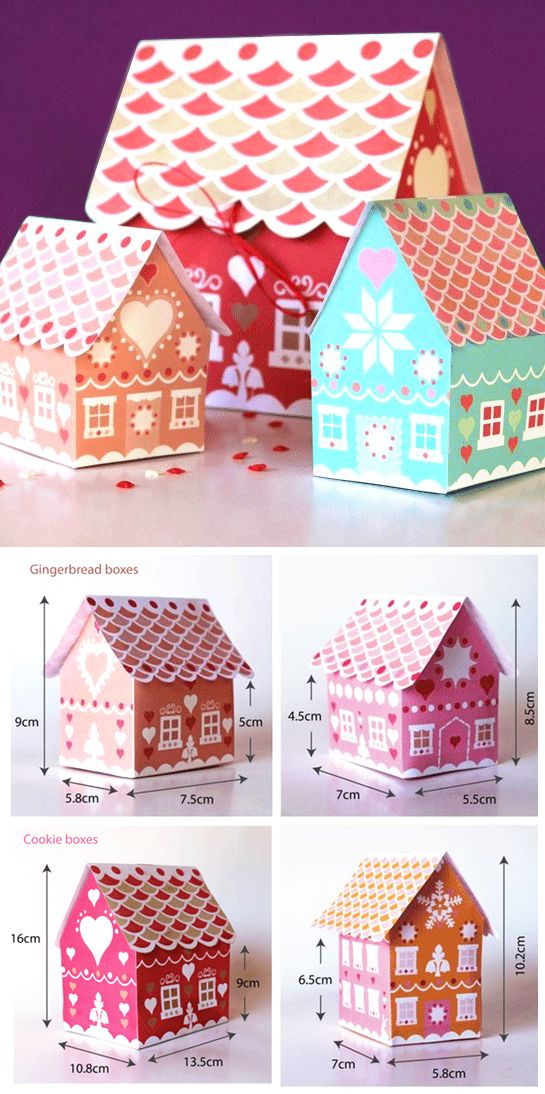 Cute printable box templates - perfect for festive gifts or cookies! happythought.co.uk