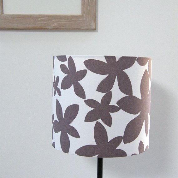 Scandinavian Fabric Hand Covered Lightshadeand by BusyBlackbird, £25.00