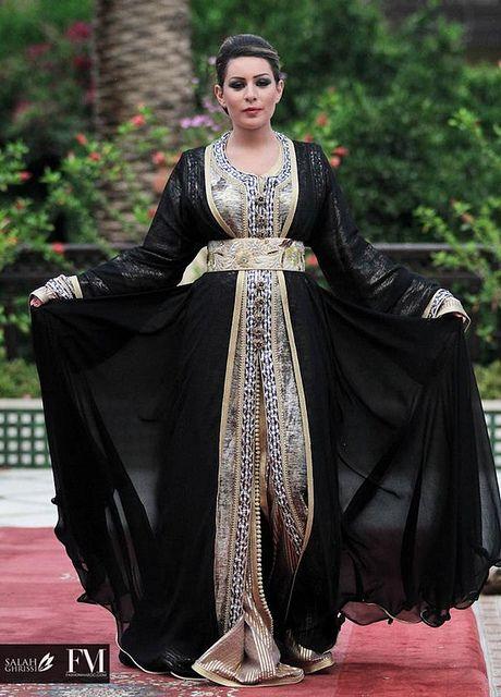 moroccan noir et couture grise