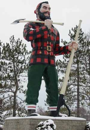Paul Bunyan Statue - Bangor, Maine  I LOVED seeing this when I would visit!  C.D.