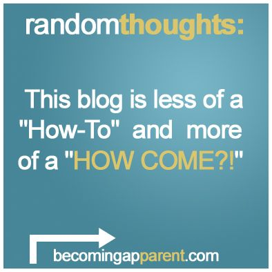 """This blog is less of a """"How-To"""" and more of a """"HOW COME?!""""  As such, I believe it represents the parental condition fairly accurately, since the most clear truth I've learned in the last 3 months is that no one seems to know anything about anything and no one is even sure if anything about anything is knowable...    #newdad #blog #parenting #kids #babies"""