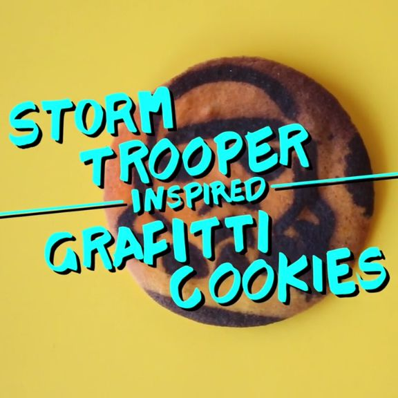 Eat your way through these graffiti Storm Trooper cookies.