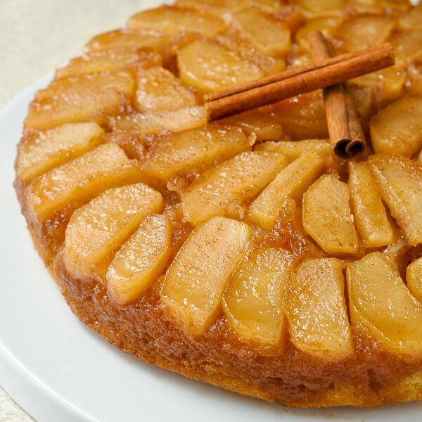 Old Fashioned Apple Upside Down Cake - a decades old family recipe using very simple ingredients to create a comfort food dessert that everyone will love.