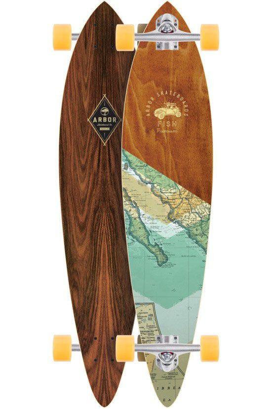 "ARBOR COMPLETE LONGBOARD SKATEBOARD - FISH PREMIUM GROUNDSWELL - 37""   Sporting Goods, Skateboarding, Skateboards   eBay!"