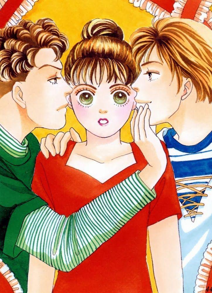 """HANA YORI DANGO (Boys Over Flowers) by Kamio Youko    Makino lower middle class; hardworking and character, studying at Eitoku Academy for high society. Eitoku is governed by the """"F4"""" group. The leader, son of the most powerful family, cares for her.    Makino de clase media baja, trabajadora y de mucho caráter,  estudia en la Academia Eitoku, para la alta sociedad. Eitoku es gobernada por el grupo """"F4"""". El líder, hijo de la familia más poderosa, se interesa por ella. #manga #shojo"""