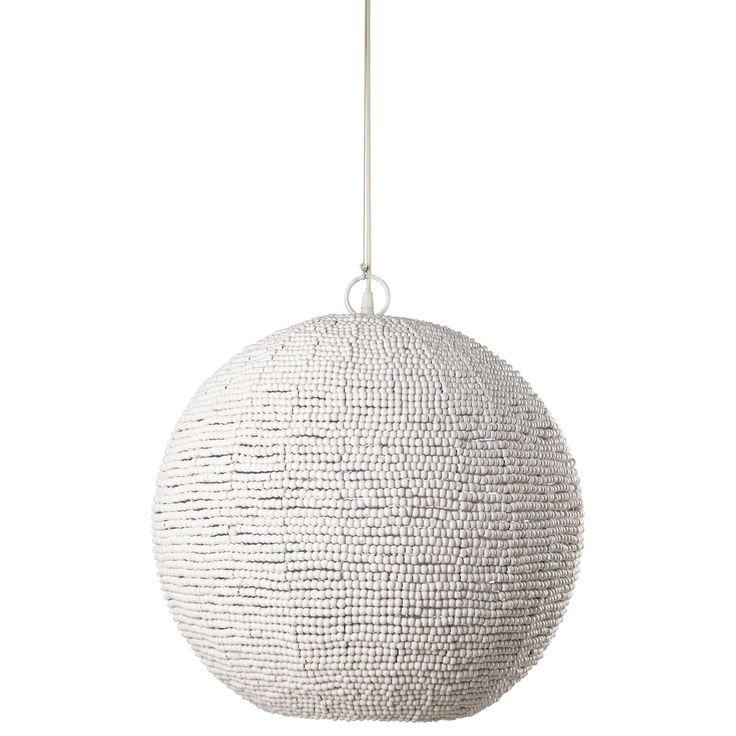 White bead pendant D 47 cm PERLES | Maisons du Monde