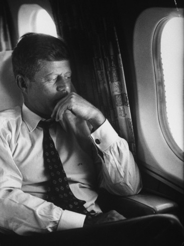 Sen. John F. Kennedy on His Private Plane During His Presidential Campaign Photographic Print at Art.com
